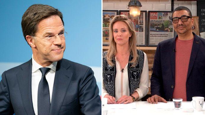 Premier Rutte is te gast in De Ochtend Show to go.