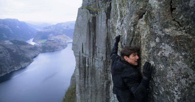 Tom Cruise als Ethan Hunt in 'Mission: Impossible – Fallout'. Beeld RV Paramount