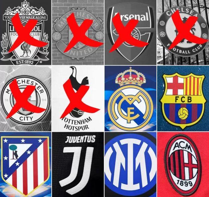 Er zijn nog zes clubs over in de Super League.