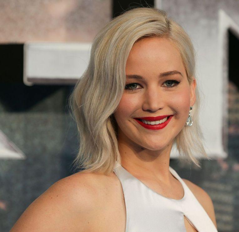 Jennifer Lawrence bij de premiere van X-Men Apocalypse. Beeld afp