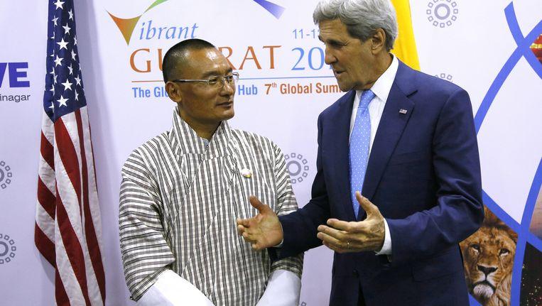 Tshering Tobgay en John Kerry Beeld AP