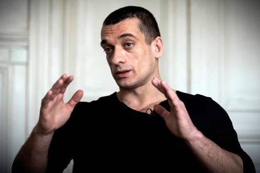 De Russische activist Pyotr Pavlensky verspreidde de tapes van Griveaux