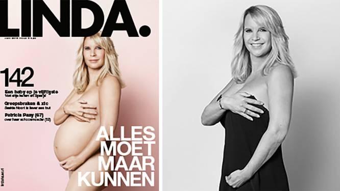 Linda De Mol (51) poseert hoogzwanger op de cover