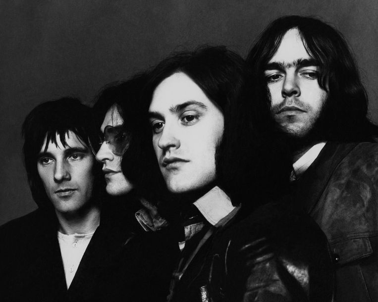 The Kinks, vlnr Mick Avory, Ray en Dave Davies, en John Dalton. Beeld Getty