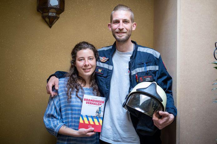 Natacha Michiels schreef een boek met getuigenissen van brandweerlieden, onder wie haar vriend Jannick Lansu.