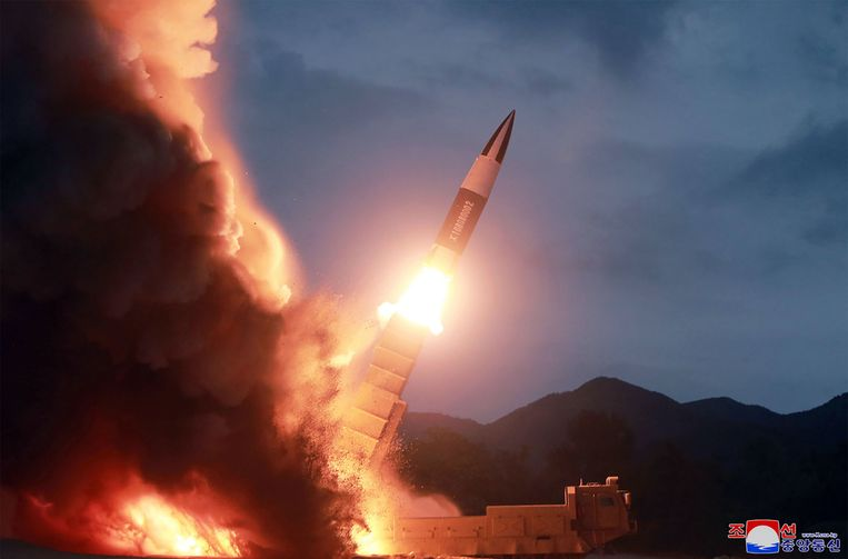 Beeld van een raket die Noord-Korea eerder deze maand al afschoot. Beeld AFP