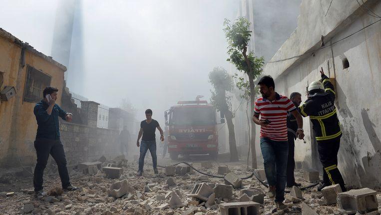 Ook op 19 april belandde een raket uit Syrië in het Turkse Kilis.