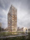Ontwerp BAN Nieuw Zuid Antwerpen door Shigeru Ban.