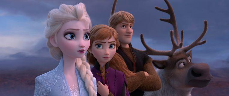 Elsa, Anna en Kristoff in Frozen 2. Beeld AP