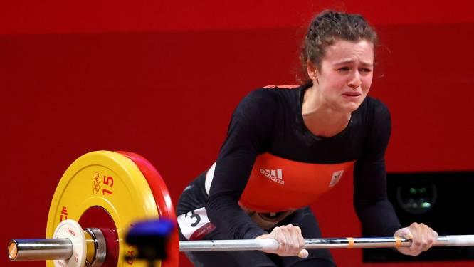 Gewichthefster Nina Sterckx eindigt met BR knap als 5e bij -49 kg en laat tranen de vrije loop