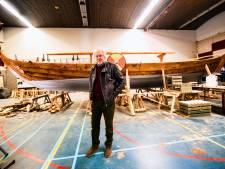 Historische boot: Coos (78) bouwde in drie jaar en met 9000 manuren een écht Vikingschip
