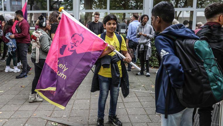Met onder andere een vlaggenoptocht werd donderdag de nieuwe naam gelanceerd Beeld Eva Plevier