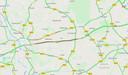 File op de A1 tussen Holten en Deventer, vrijdagochtend.