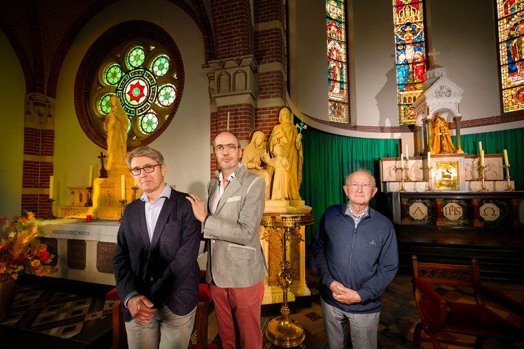 Jan Velt (r) met Pieter Theo Zuurbier en Kees Scheffers Beeld Mark Kohn