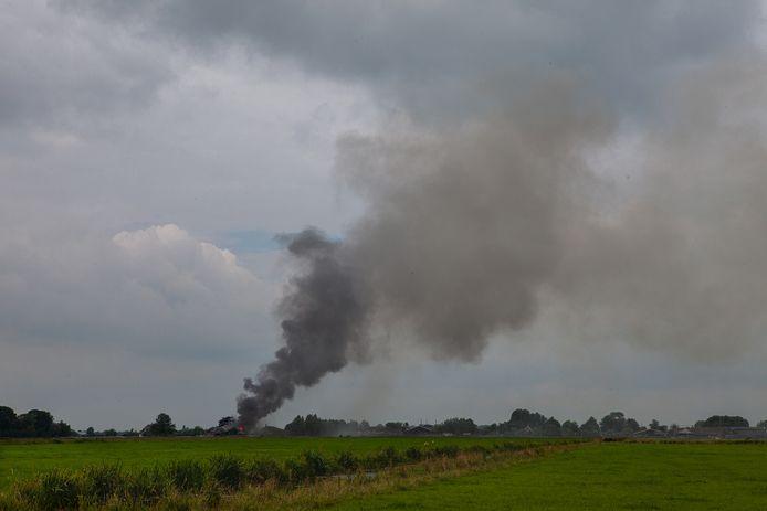 Grote brand in loods met oldtimers in Kockengen