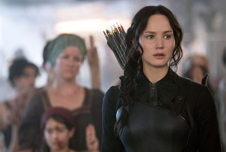 Jennifer Lawrence in The Hunger Games: Mockingjay Part 1.  Beeld AP