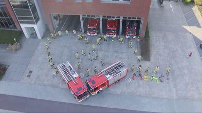 Antwerpse brandweer brengt indrukwekkend eerbetoon aan helden van de zorg