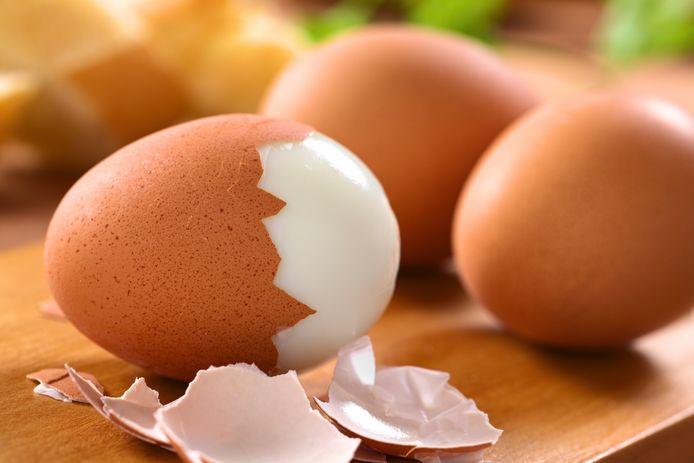 Gekookte eieren.
