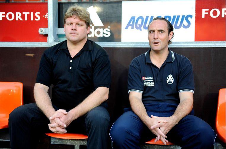 Geen reünie tussen HVH en YVDH, zoals hier in Anderlecht op de bank van Kortrijk.