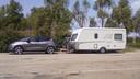Ideaal koppel: de Renault Scénic en een Eriba Nova caravan.