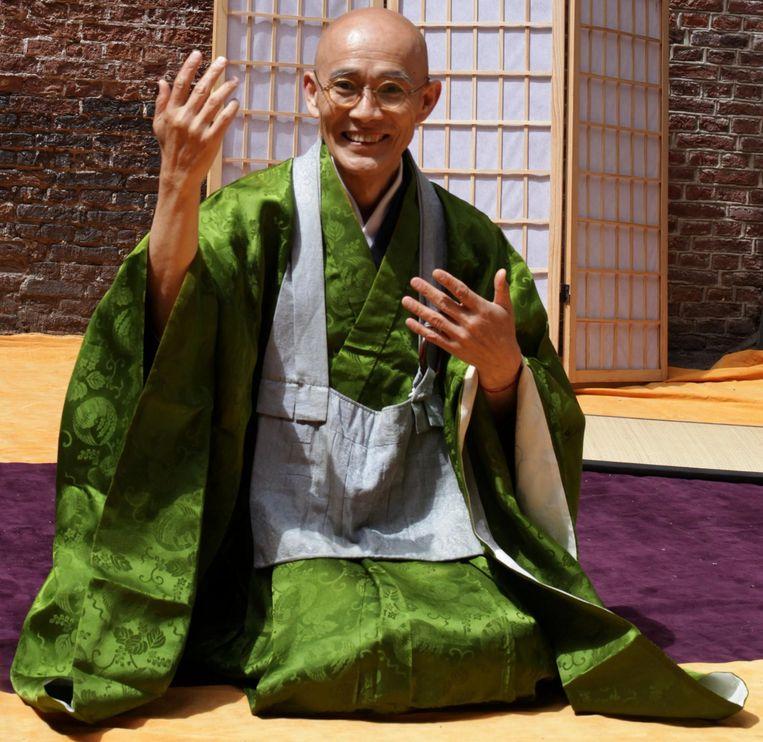 Souken Danjo deelt zijn wijsheid over mindfulness en meditatie Beeld Fred Rohde