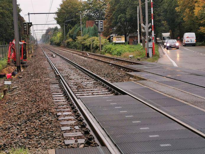 De bewuste spoorwegovergang in Kapellen.