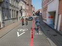 Magdalenastraat: eenrichtingsverkeer in het eerste deel, verkeer in de richting van de Sint-Medarduskerk blijft mogelijk.