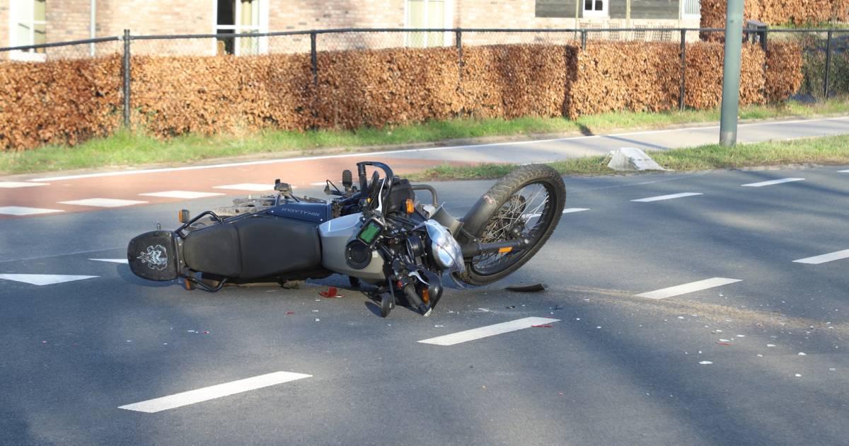 Motorrijder gewond door aanrijding in Schijndel.
