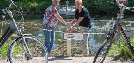 Vandalen vernielen trekpontje over Overijssels Kanaal in Heeten, route stopt voor fietsers en wandelaars