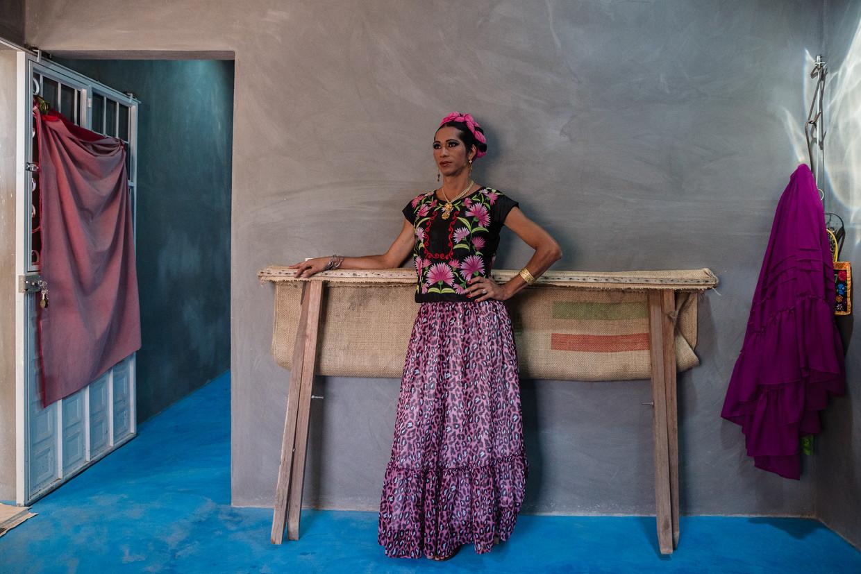 Estrella Vazquez (37) sierde vorig jaar de cover van de Mexicaanse en Britse editie van 'Vogue'. Beeld ARIANA DREHSLER