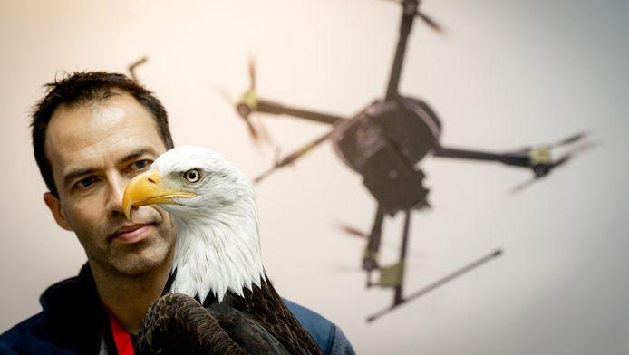 De arend kan drones uit de lucht halen door ze te vangen met zijn poten.