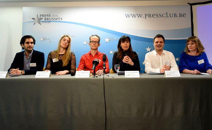 Persconferentie om hun nieuwe politieke partij voor de dieren te lanceren in februari   Brussels19/02/2018 pict. by Bert Van den Broucke © Photo News