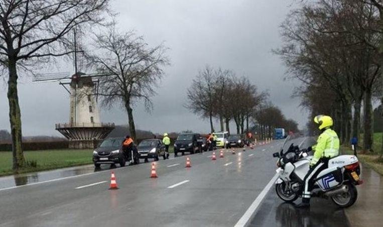 De politie controleerde onder meer aan de Fauconniersmolen in Oordegem.