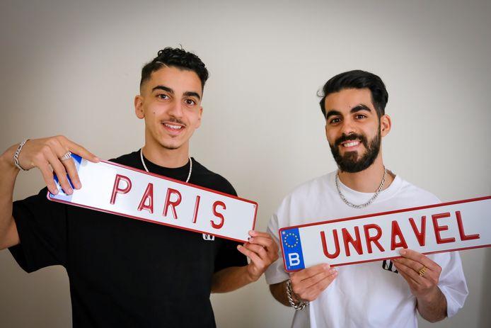 Khalid (19) et Soulaimane (24) Hamdaoui d'Unravel Paris.