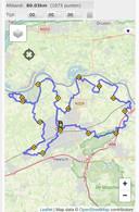 De route 80 van de Osse Maaskant, voor het eerst onderdeel van De Maasdijk.