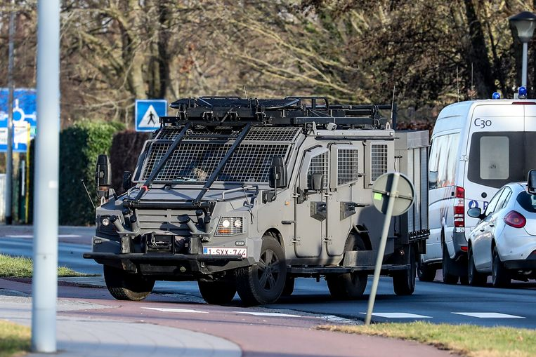 Illustration picture shows  the Brugge prison, Wednesday 24 February 2021. According to several media, a hostage situation is currently at hand at the prison. BELGA PHOTO BRUNO FAHY Beeld BELGA