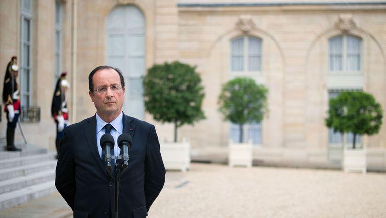 De Franse president François Hollande. Beeld BELGA
