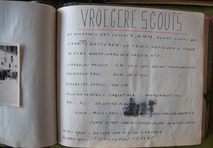 Oude logboeken van Scouts Prins Boudewijn in Wetteren vermelden dat er reeds een scoutsgroep was in 1919. .