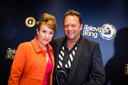 Annick Boer en Richard Groenendijk voor aanvang van het Gouden Televizier-Ring Gala 2015.