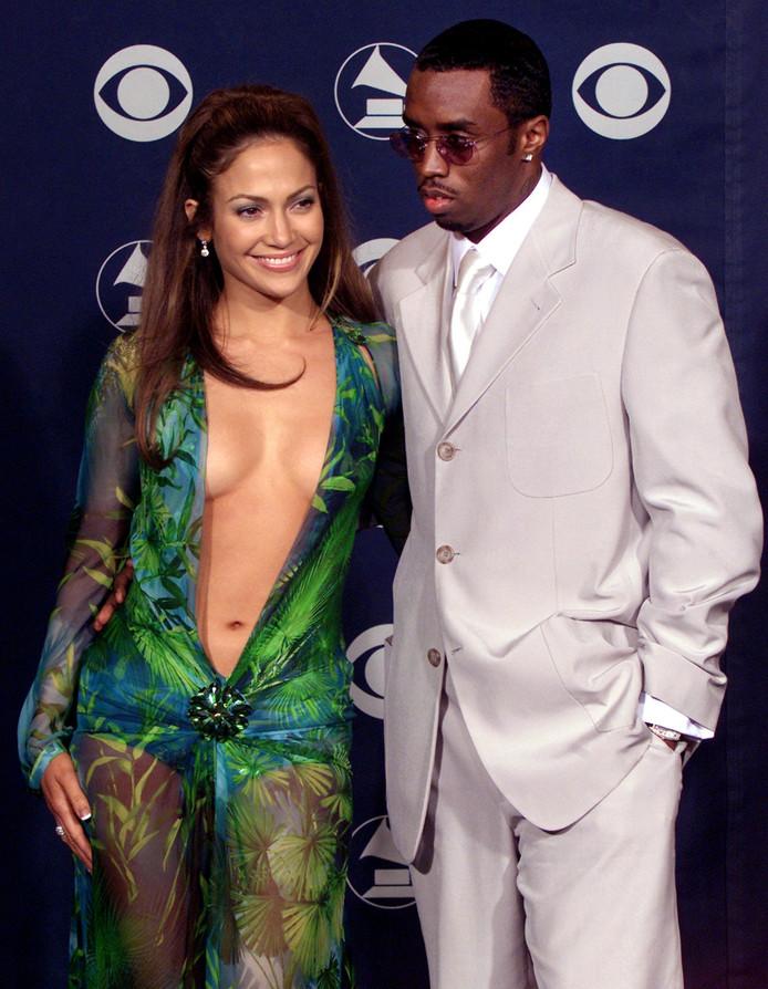 Jennifer met haar toenmalige vriend P. Diddy
