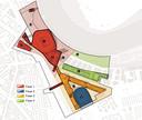 De verschillende fases van de bouw van Feyenoord City. Met in fase 1 het nieuwe stadion voor Feyenoord.