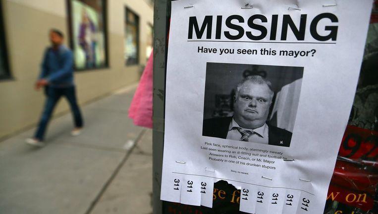 Er werd druk gespeculeerd over waar de burgemeester van Toronto zich bevond deze week. Beeld photo_news