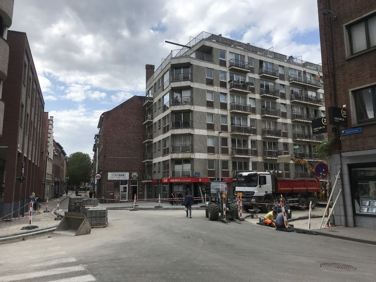 Wegenwerken aan het kruispunt Brusselsestraat, Kapucijnenvoer en Tessenstraat