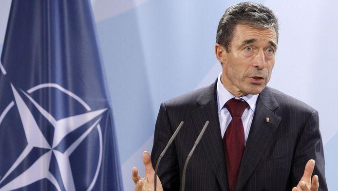 Anders Fogh Rasmussen, de secretaris-generaal van de NAVO.