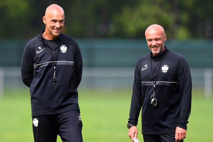 Thomas Letsch (links) en de nieuwe assistent Dick Schreuder.
