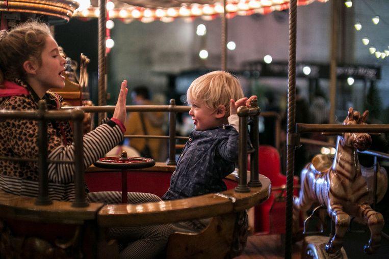 Kerstmarkt op de Westergas. Beeld Amaury Miller