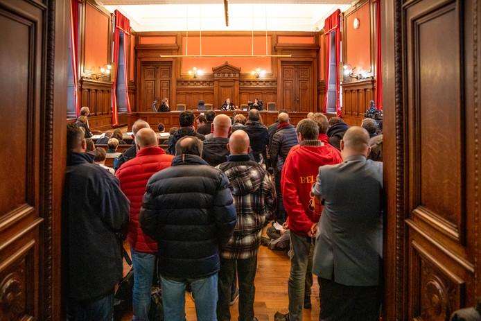Il y avait beaucoup de monde à l'annonce du verdict ce mardi matin au tribunal de police de Bruxelles.