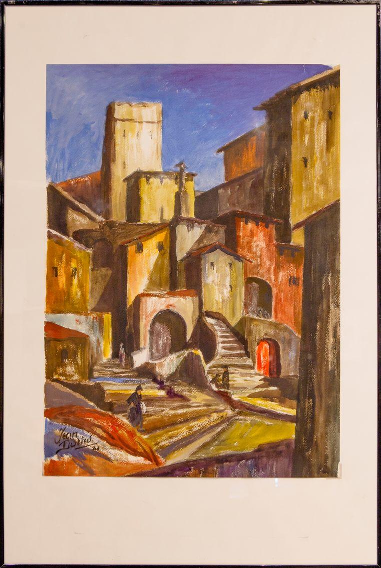 Straatje in Assisi.  Beeld Pauline Niks