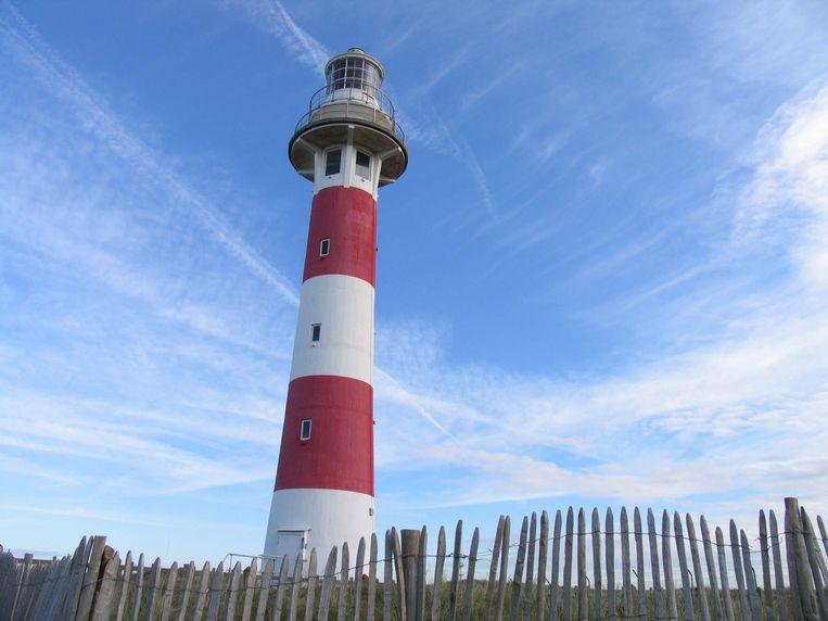 Vuurtoren in natuurgebied IJzermonding in Nieuwpoort is beschermd monument.