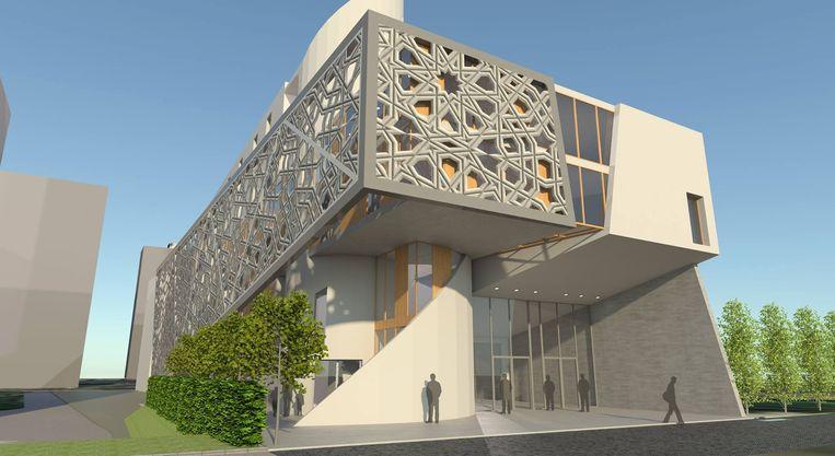 Zo had de nieuwe moskee er moeten uitzien.